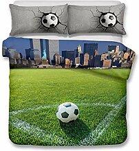 3D Digitaldruck Fußball Sport Bettwäsche Mit 2