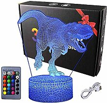 3D Dinosaurier Illusions Lampe,Mit Fernbedienung