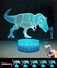 3D Dinosaurier Lampe LED Nachtlicht mit