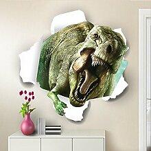 3D Dinosaurier Wand Aufkleber für Wohn-/Schlafzimmer/Zimmer/Kindergarten/Kinder Zimmer Einrichtung Kunst Aufkleber
