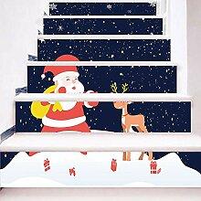 3D DIY PVC Wandsticker 6 Stück Weihnachtsmann