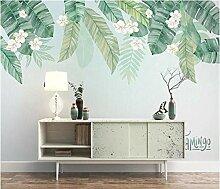 3D Diy Tapete Fototapete Riesige Blätter Und