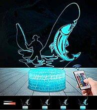 3D Dolphins Lampe LED Nachtlicht mit Fernbedienung