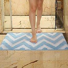 3D drei-dimensionale Boden-Matte Haushalt Badezimmer Toilette Toilette Tür Absorber Matte, Rosa Klee, 50 * 80 cm