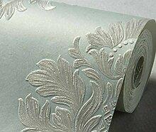 3D Dreidimensionales Relief Europäische Vliestapete Wohnzimmer Schlafzimmer Tapeten Geprägt Feines Essen Hintergrund,Green