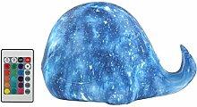 3D Druck Sternenhimmel Wal Lampe bunte Änderung