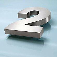 3D Edelstahl Hausnummer 16mm (2)