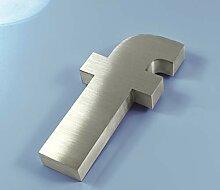 3D Edelstahl Hausnummer 16mm (f)