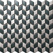 3D-Effekt Rhombus Edelstahl Mosaik Fliesen