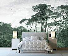 3D Effekt Tapete Baum Plum Hirsch-Vogel