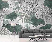 3D Effekt Tapete Frische Grüne Pflanze