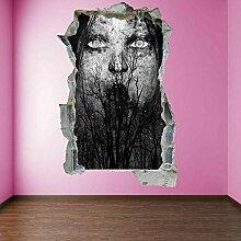 3D Effekt Wandtattoo 3D Poster Aufkleber PVC