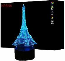 3D Eiffelturm Lampe USB Power 7 Farben Amazing