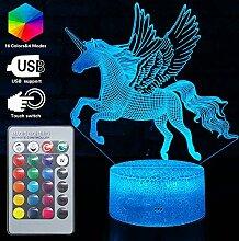 3D Einhorn Lampe LED Optische Täuschung Lampen