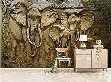 3D Elefant Tapete Wandbilder Für Kinderzimmer