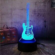 3D elektrische Musik Bass Gitarre Nachtlicht Touch