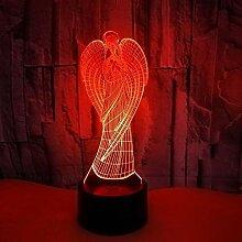 3D Engel Optische Illusions Lampe 7 Farben