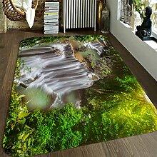 3D Fälle Wald 166 Rutschfest Teppich Matte Raum