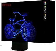 3D Fahrrad Lampe USB Power 7 Farben Amazing