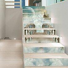 3D Fantasy Wolke Schloss 54 Stair Risers