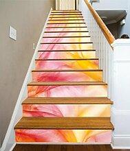 "3D Farbe Seide Hintergrund 8 Stair Risers Dekoration Fototapete Vinyl Aufkleber Tapete DE Carly (15x H:18cm x W:94cm (7""x37""))"