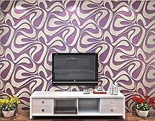 3D Faserstoff beflockte Tapete Rolle für Wohnzimmer Schlafzimmer TV Hintergrund Wand 0,53m (52,8cm) * 10Mio. (32,8') M = 5.3sqm (M³), Wallpaper only, Bright purple [JC-2054]