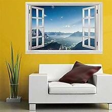 3D Fenster Wandtattoo Wandaufkleber Auch der Berg