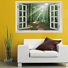 3D Fenster Wandtattoo Wandaufkleber Bestrahlung