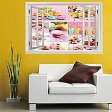 3D Fenster Wandtattoo Wandaufkleber Farbige