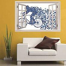 3D Fenster Wandtattoo Wandaufkleber Fragmentierung