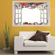 3D Fenster Wandtattoo Wandaufkleber Gebrochene