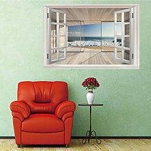 3D Fenster Wandtattoo Wandaufkleber Gebrochenes