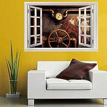 3D Fenster Wandtattoo Wandaufkleber manometer
