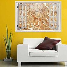 3D Fenster Wandtattoo Wandaufkleber marmor muster