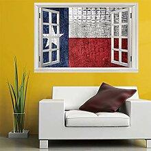 3D Fenster Wandtattoo Wandaufkleber nationalflagge