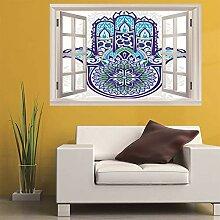 3D Fenster Wandtattoo Wandaufkleber Palm mandala