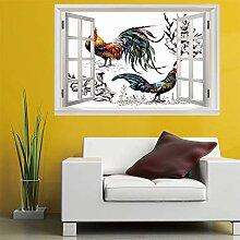 3D Fenster Wandtattoo wandaufkleber schöne zwei