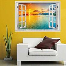 3D Fenster Wandtattoo Wandaufkleber Sommer