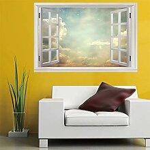 3D Fenster Wandtattoo Wandaufkleber Streulicht