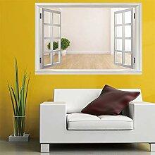 3D Fenster Wandtattoo Wandaufkleber Zwei Töpfe