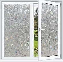 3D Fensterfolie Fenster Aufkleber Kein Klebstoff Static Cling UV Anti (45 x 400cm)
