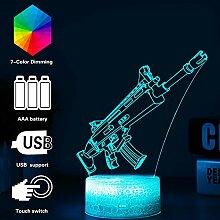 3D Festungslampe Battle Bus RGB Stimmungslampe 7