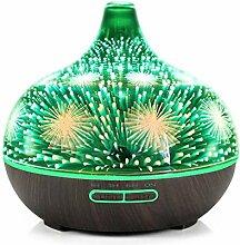 3D Feuerwerk Glas Luftbefeuchter mit 7Color LED
