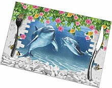 3D Fisch Aquarium Design3D Tablettmatte,