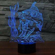 3D Fisch Lampe USB Power 7 Farben Amazing Optical