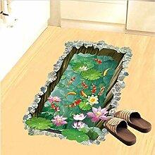 3D Fischteich Boden Aufkleber Für Kinderzimmer