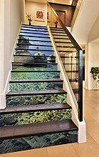 "3D Fluss Stein Baum 57 Stair Risers Dekoration Fototapete Vinyl Aufkleber Tapete DE Carly (13x H:18cm x W:102cm (7""x40""))"