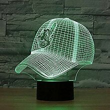 3D Football Helm Led Cleveland Indianer Nachtlicht