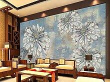 3D Fototapete 3D Effekt Abstrakte Blaue Blumen