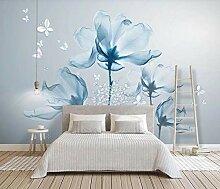 3D Fototapete 3D Effekt Blauer Blumenschmetterling